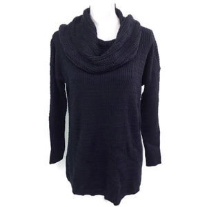 Style & Co Dark Blue Tunic Cowl Neck Sweater NWT